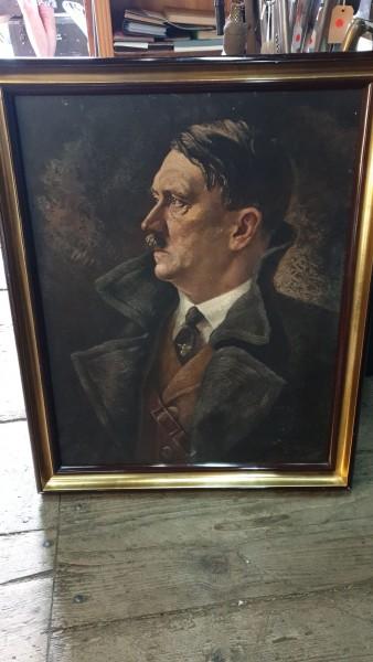 Adolf Hitler Bild aus NSDAP Parteizentrale nummeriert 64 x 80cm