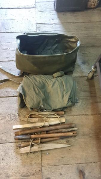 US-Zelteinheit 2.WK mit Blache Gestänge und Tasche 1943 nicht komplett