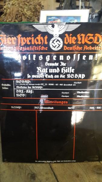 Orignal Emailschid NSDAP