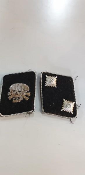 Orginal SS Totenkopfdivision Kragenspiegel