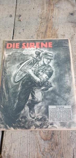 Die Sirene Illustrierte Zeitschrieft des Reichluftschutzbundes