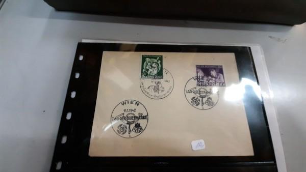 Postkarte mit Marke aus dem 3.Reich