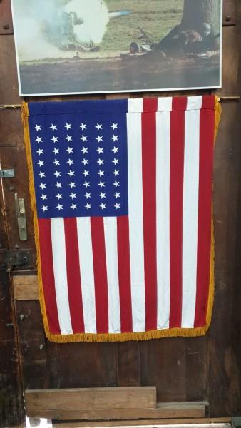 Orginal USA Fahne Seide alt 92 x 120cm