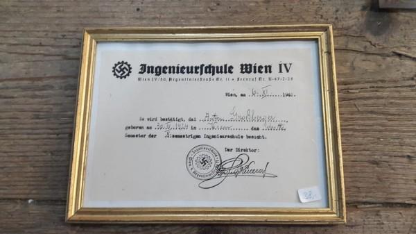 Orginal Urkude Ingenieurschule Wien IV