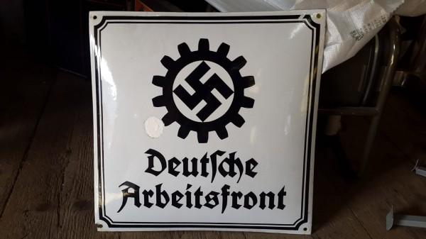 Orginalschild Deutsch Arbeiterfront