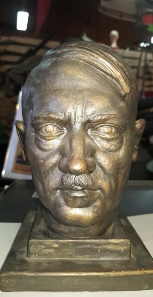 Adolf Hitler Ton Büste Jahrgang 1940 - Top Zustand, Signiert