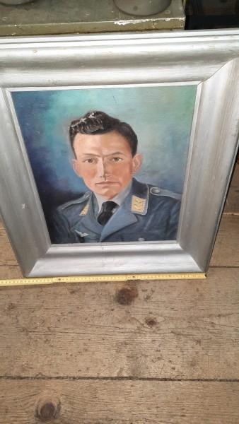 Ölgemälde eines Staffelkapitäns 3.Reich