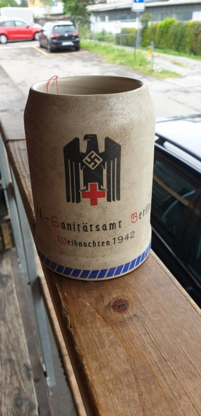 SS Bierkrug Sanitätsamt Berlin Weihnachten 1942
