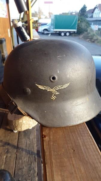 Orginal Luftwaffenhelm 1seitig Abzeichen