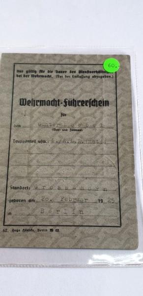 Orginal Wehrmachtsführerschein