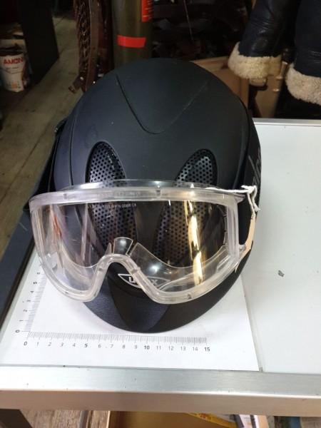 Reiterhelm und Schutzbrille neuwertig CH-Armee