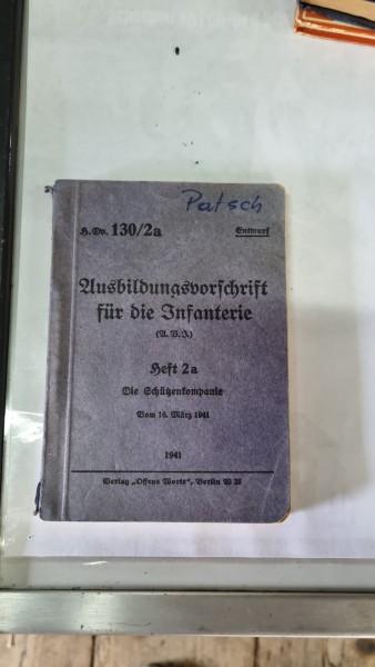 Orginal Buch Ausbildungsvorschrift für die Infanterie