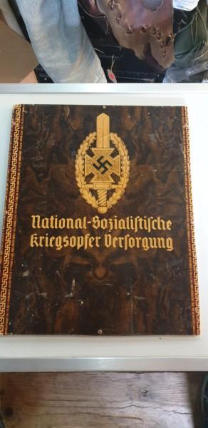 Orginal Holzschild National Sozalistische Kriegsopfer Versorgung