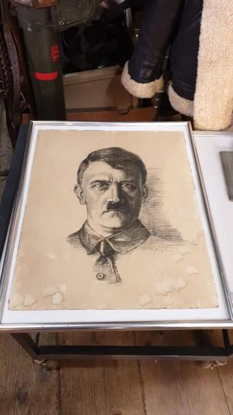 Orginal Adolf Hitlerbild neuer Rahmen 41 x 52cm