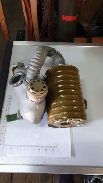 DDR Gasmasken mit Filter ungebraucht