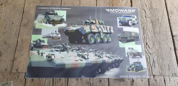 Panzerposter MOWAG diverse gepanzerte Fahrzeuge