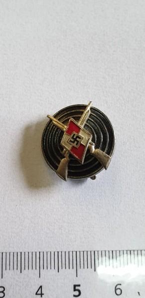 Hitlerjugend Schiessabzeichen HJ mit Herstellernummer