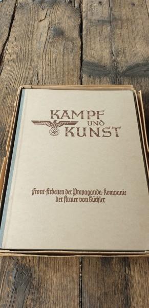 Kampf und Kunst diverse Bilder vom Kriegsgeschehen TopZustand neuwertig