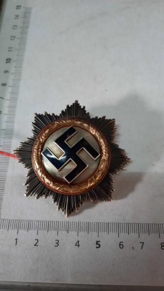 Orginal Deutsches Kreuz ind Gold schwere Ausführung mit Herstellerstempel und Etuie