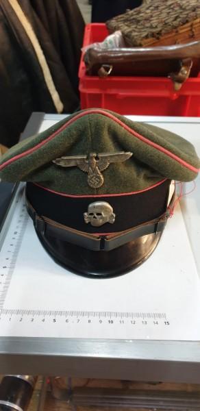 Orginal SS Panzer Offiziersmütze