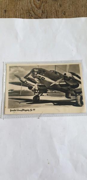 Ansichtskarte Kampfflugzeug 111