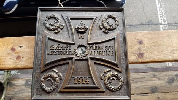 1. Weltkriegs Gedenktafel Bronze Kaiserreich