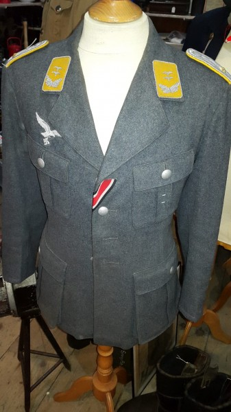 Orginal Luftwaffen Offiziersjacke Top Zustand