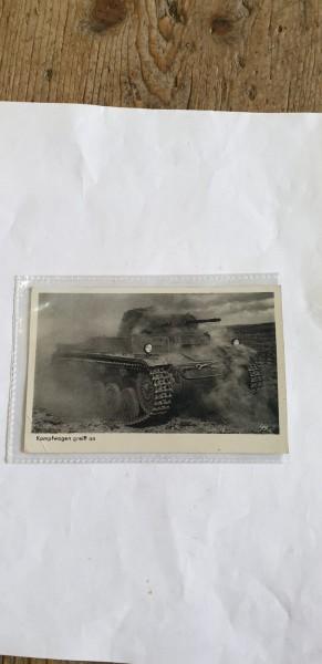 Ansichtskarte Kampfwagen greift an