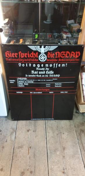 Orginal NSDAP Schild Top Zustand