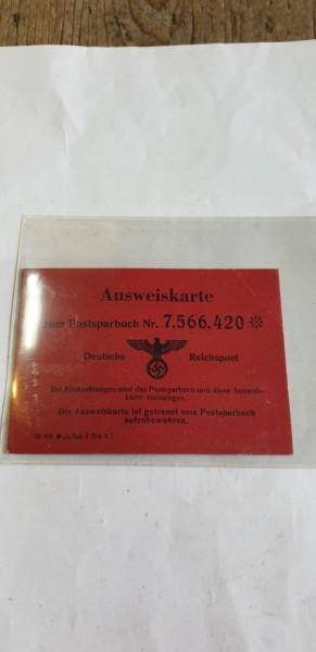 Ausweiskarte Postsparbuch