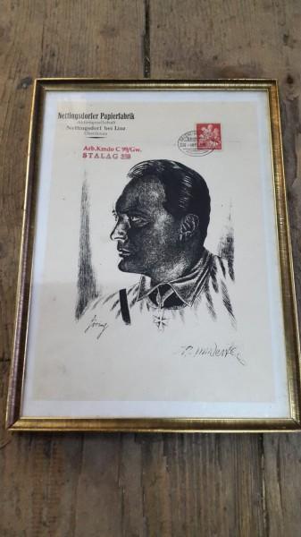 Orginal Bild H.Göring aus Stalag 398 gerahmt