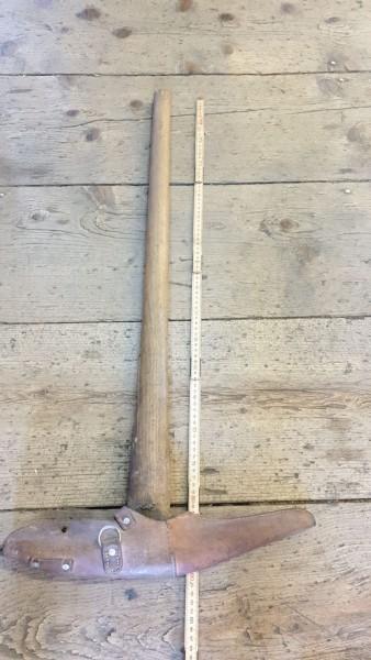 Geschützpickel mit Lederschutz / Etuie 90cm