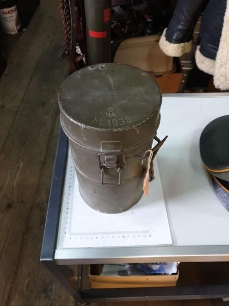 Gasmaske mit Behälter 2.Wk 1938