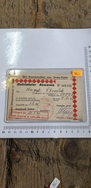Befristeter Ausweis von Gross Paris