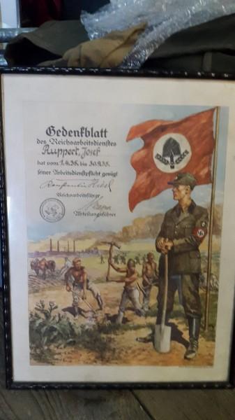 Gedenkblatt 3.Reich