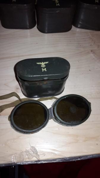 Orginal Marine Brille mit Blechdose