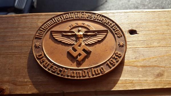 Plaquette Nazionalsozialistisches Kliegerkorps 1938