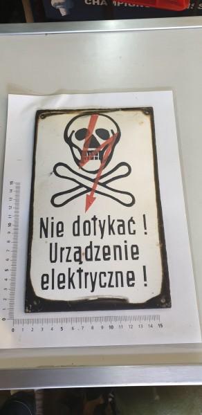 Orginal KZ-Lager Tafel polnisch