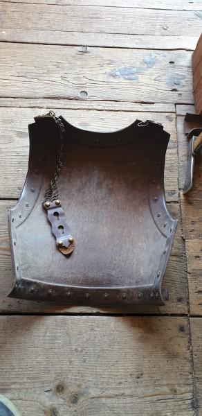 Teil von einem Brustpanzer (Hinterteil Rücken) Franreich 1851