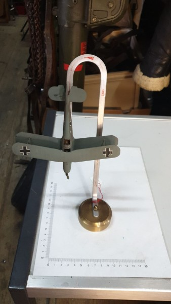 Altes Doppeldecker Metal Model