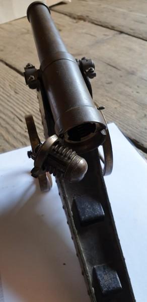 Kanone 1.WK von 1917 von Französischen Kriegsgefangenen gefertigt