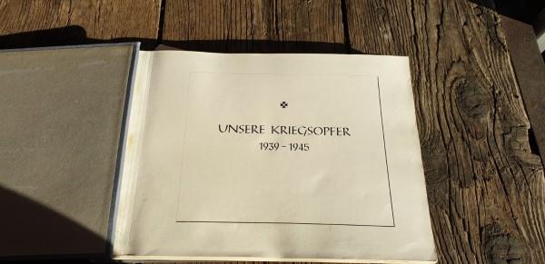 Buch Unsere Kriegsopfer 1939-1945 aus der Stadt Dornbirn