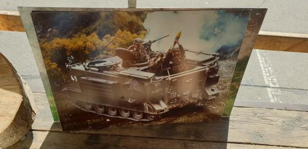 Schulungsbild der CH-Armee auf Alu Schützenpanzer M113 mit 12cm Minenwerfer