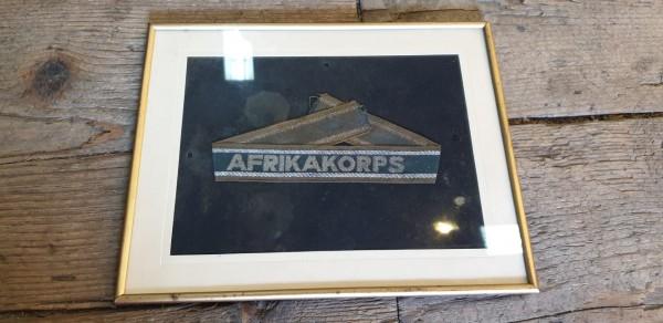 Orginal Afrikakorps Ärmelband im Bilderrahmen