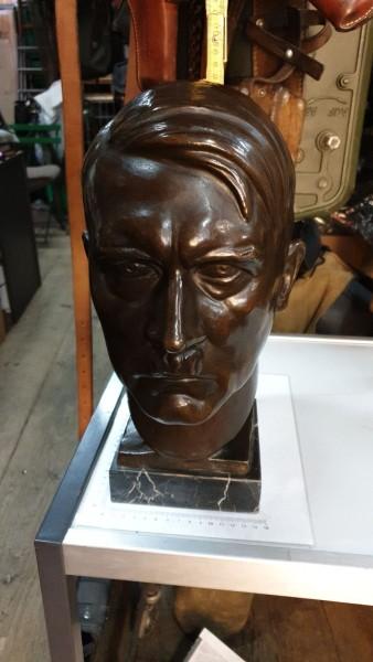 Orginal Bronce A.Hitler signiert Höhe 37cm
