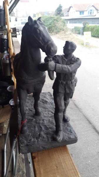 Trainsoldat Statue